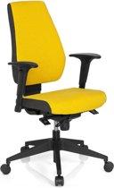 hjh office Pro-Tec 500 - Bureaustoel - Stof - Geel / grijs