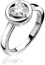 Zinzi All You Need is Love - Zilveren Ring - Hartvormige Zirkonia - Maat 56 (LOVER4-56)