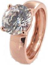 New Bling 943283172-58 - Zilveren Ring - Zirkonia rond - 8 mm - Rosékleurig
