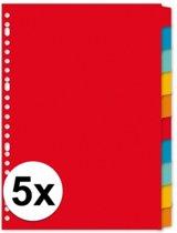 Kartonnen tabbladen A4 - 50 stuks - 23 rings/ gaats - gekleurde tabbladen