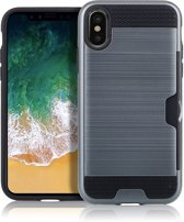Mobigear Brushed Navy Blauw iPhone Xs Max