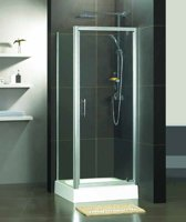 Douche Hoekcabine Van Rijn Products 87x87x200cm Helder Antikalk Glas 6mm Chroom Profiel + Handgreep (Verstelbaar 87~89cm)