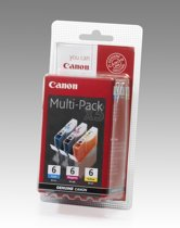 Canon BCI-6 - Inktcartridges / Cyaan / Magenta / Geel