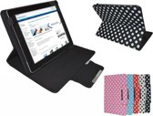 Polkadot Hoes voor de Samsung Galaxy Tab A Plus 9.7, Diamond Class Cover met Multi-stand, rood , merk i12Cover