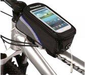 Waterdichte Telefoonhouder met extra opbergvak (maat L) voor fiets of mountainbike, Roswheel Telefoon - Fietstas - Frame. Passende maten: Lengte tussen de +/- 140 tot 156mm, breedte +/- 70 tot 87mm, z