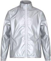 Contrasterend lichtgewicht jack, Kleur Silver (Metallic)/White, Maat S