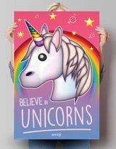 REINDERS Emoji - believe in unicorns - Poster - 61x91,5cm