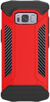 Let op type!! Samsung Galaxy S8 Robuust pantser beschermend TPU + metaal back cover Hoesje (rood)