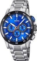 Festina Chronobike Blue horloge  - Zilverkleurig