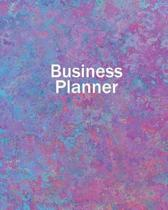 Business Planner 8 X 10 - Planner, Organizer and Record-Keeper - Pink and Blue