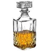 Whiskey karaf - 1 liter - glas - 23 cm - wiskey decanter