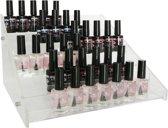 Veronica NAIL-PRODUCTS Nagellak display, rek, standaard voor 48-54 flesjes, 6 niveau's flesjes nagellak, gellak / gel lak / gelnagellak / gellac / gel polish, striper enz. Een sieraad op uw nageltafel, opbergen van flesjes was nog nooit zo makkelijk!