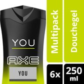 Axe You Douchegel - 6 x 250 ml - Voordeelverpakking