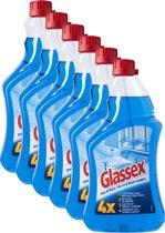 Glassex Glas & Multi Navulling - Glasreiniger - 6 x 750 ml - Grootverpakking