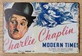 Wandbord Charlie Chaplin Metaal Muur Decoratie Emaille Vintage Retro Tekst Metalen Reclame Bord - Metal Tin Sign - Vitch!™