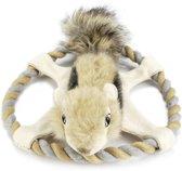 Beeztees Nuddles Eekhoorn - Hondenspeelgoed - Touwring - 32 cm