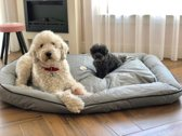 Meesterpet hondenbed / hondenmand - grijs - L (ca 80*65*18 cm) W02