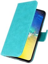 Wicked Narwal   bookstyle / book case/ wallet case Wallet Cases Hoesje voor Samsung S10e Groen