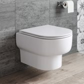 Hangend Rimless Toilet Dowa Vale + Softclose Quick Release Zitting