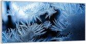 Plexiglas –IJskristallen– 200x100 (Wanddecoratie van Plexiglas)