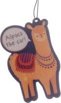 Alpaca The Car Luchtverfrisser Air Freshener Autoparfum Lama Sinaasappel