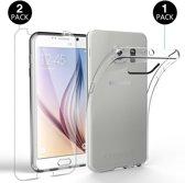 Samsung Galaxy S6 TPU silicone en Tempered glass Screenprotector Set