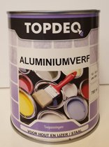 Topdeq Aluminiumverf - Verf - 750 ml