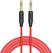 Premium AudioJack kabel 1 meter - Aux naar Aux 3.5 mm - Audio Jack to Audio Jack - Aux kabel voor je koptelefoon, auto of speaker - Audiokabel Hoco UPA11