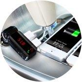 (BESTSELLER!) Pariot Bluetooth handsfree Carkit + Handsfree bellen in de Auto + FM Transmitter + 2 USB poorten