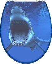 SCHÜTTE WC-Bril 82371 SHARK - Duroplast - Soft Close - Afklikbaar - RVS-Scharnieren - Decor - 3-zijdige Print