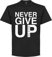 Never Give Up Liverpool T-Shirt - Zwart - M