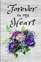Pet Grief Journal: Guided Prompt Keepsake Workbook, Purple Rose