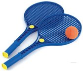 Plastic tennis set met soft bal