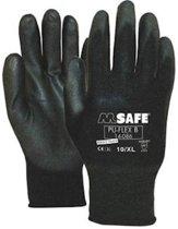 Pu-Flex Werkhandschoenen Zwart 11408600 - maat 7
