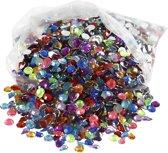 Strasstenen, afm 5 mm, kleuren assorti, 3000 assorti