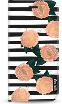 Casetastic Wallet Case Black Samsung Galaxy J6 (2018) - Striped Winter Flowers