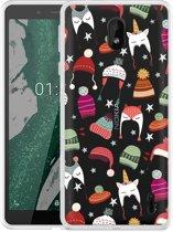 Nokia 1 Plus Hoesje Winter Hats