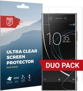 Rosso Sony Xperia XA1 Plus Ultra Clear Screen Protector Duo Pack