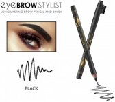 REVERS® Eye Brow Stylist Long Lasting Brow Pencil & Brush Black #05