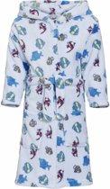 Lichtblauwe badjas/ochtendjas met vissen print voor kinderen. 122/128 (7-8 jr)