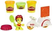Play-Doh Town mini Voertuigen - Speelklei- witte pizzakoerier
