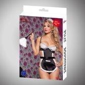 Body Pleasure - super strak - sexy lingerie - kamermeisje setje- schoonmaakster - sexy party outfit - tl91 - rollenspel - verpakt in gave cadeaubox