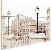 Staatsopera Wenen Hout 30x20 cm - klein - Foto print op Hout (Wanddecoratie)