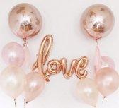 Folieballon - 64*108cm - LOVE - Rose
