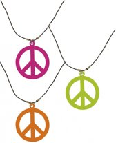 Neon hippie ketting  oranje
