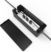 Orico - Compacte stekkerdoos beschermer – Kabelmanagement – Extra veiligheid voor Kinderen/Huisdieren – Warmtebestendig ABS-materiaal - Zwart