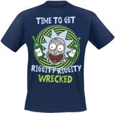Rick And Morty shirt – Rick Get's Riggity Riggity Wrecked maat S