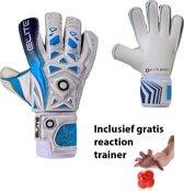 Elite - Aqua - Keepershandschoenen - inclusief Reaction trainer - maat 6 - voetbal keepershandschoenen - keepershandschoen - Goalkeeper handschoen