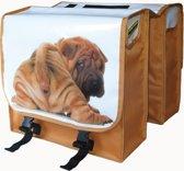 Hollandia Dubbele Fietstas - 22 Liter - Hond