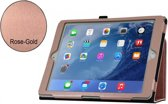 Apple iPad; Stand Smart Case voor uw Apple iPad 2017/2018 + iPad Air 1/2 + iPad Pro 9.7 Inch,Rose Gold/Goud luxe handgemaakt hoesje in business uitvoering, rose goud , merk i12Cover